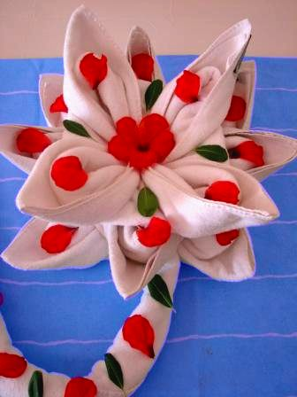 large towel origami flower