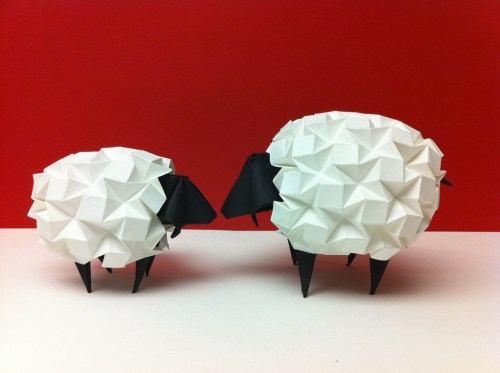 Origami Road Runner Sheep