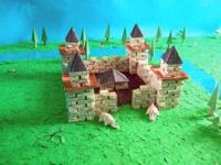 large origami castle