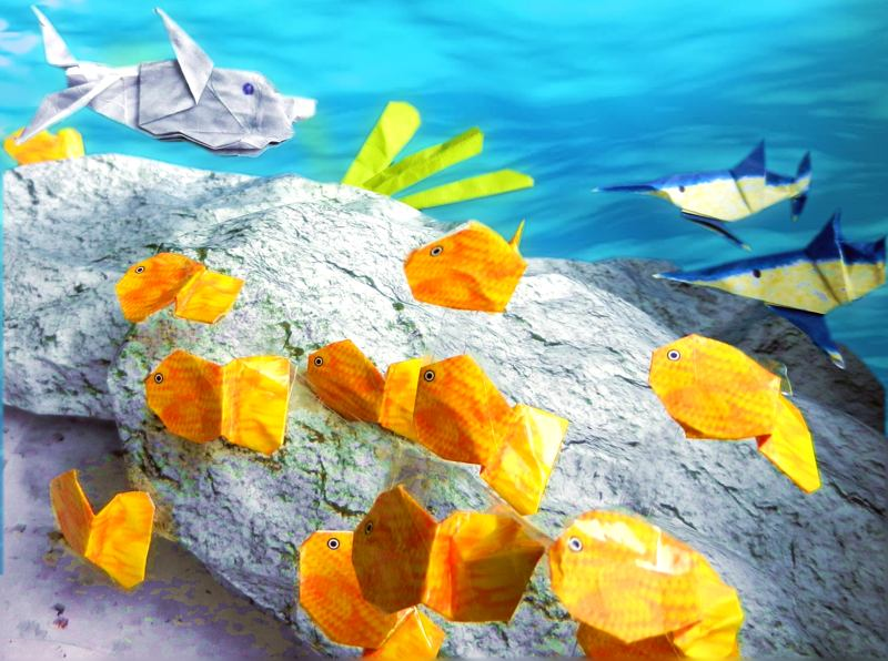 Origami underwater world