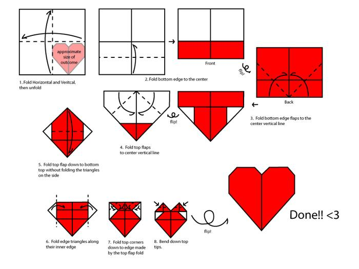 Romantic Origami Hearts Valentines Day Book Heart Instructions By MastaAzumarek