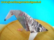 rotating origami pigeon
