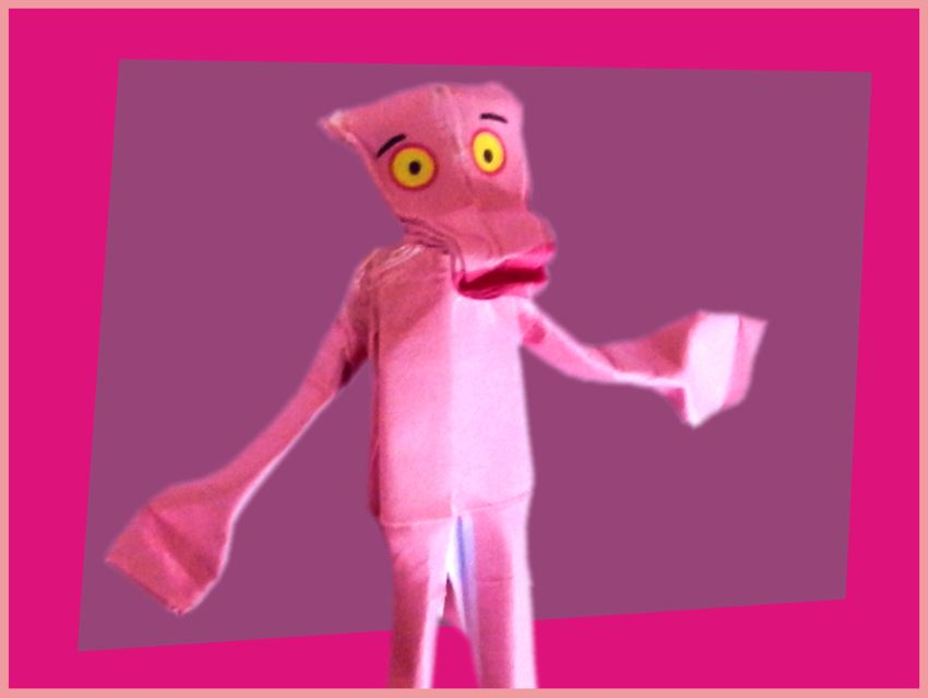 Origami Pink Panther